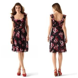 WHBM Ruffle Soft Floral Sundress/ Dress size 6
